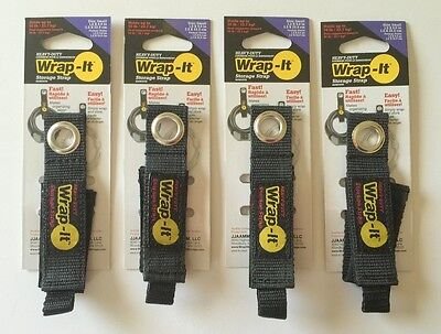 4 Small Wrap-it Heavy Duty Storage Straps To Hang Items On Hooks Pegboard