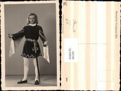 261345,Mariazell Mariazeller Festspiele 1931 Mann im Kostüm Schwert