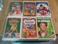 Large Lot of Kids VHS Tapes