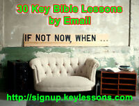 30 Completely Free Key Bible Lessons by Email Course.