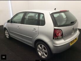 2009 Volkswagen Polo Automatic 1.4 Match 5dr, Full service history, 1 year Warranty included -Silver