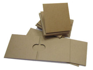 Kraft CD Cases Eco Friendly Recycled 2 and 1 Pocket Sleeves