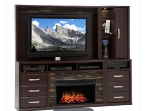 5 piece Entertainment Unit with fireplace