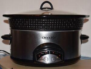 Mijoteuse 6pte /programmable Crock-Pot/ 6qt slow cooker