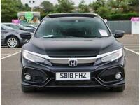 2018 Honda Civic Honda Civic 1.5 VTEC Turbo 182 Prestige 5dr Hatchback Petrol Ma