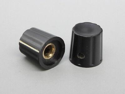 10 X Bakelite Control Knob Set Screw Type 18mmdx18mmh Black 6mm Shaft