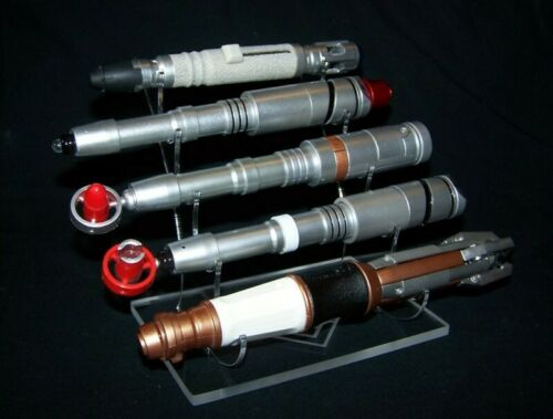 acrylic display stand for Dr Who sonic screwdriver prop replicas 5 tier