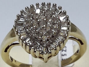 10KT Yellow Gold and Diamond Ring SZ 5 3/4