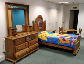 Childrens Winnie Pooh Wooden Bedroom Furniture Set