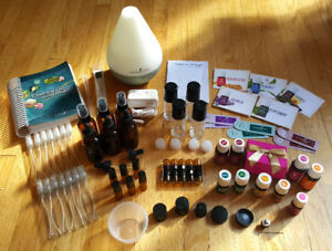 Essential Oils, Diffuser, Glass Bottles, Resource Book & More!