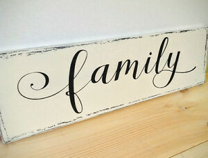 Hand Painted Family Or Laundry Sign