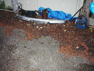 NICE STRAIT USED FRONT BUMPER FOR A 1951 MERCURY CAR $150.00