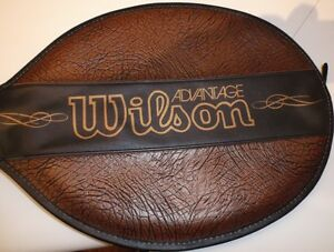 VINTAGE WOOD TENNIS RACKET IN MINT CONDITION - WILSON ADVANTAGE