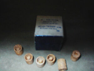 6 NEW BRONZE 57-74 GM CARB INLET FILTERS #7013404 $5E 6/$20.0