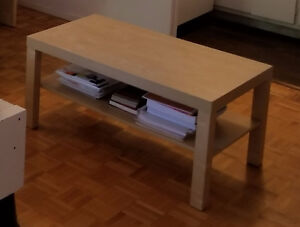 Coffee Table with Lamp & Fan