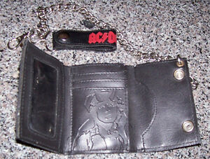 AC DC Bikers Wallet + Leather Belt Pouch with Cross and Skull London Ontario image 3
