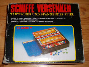 Shiffe Versenken - Rare German version of Battleship