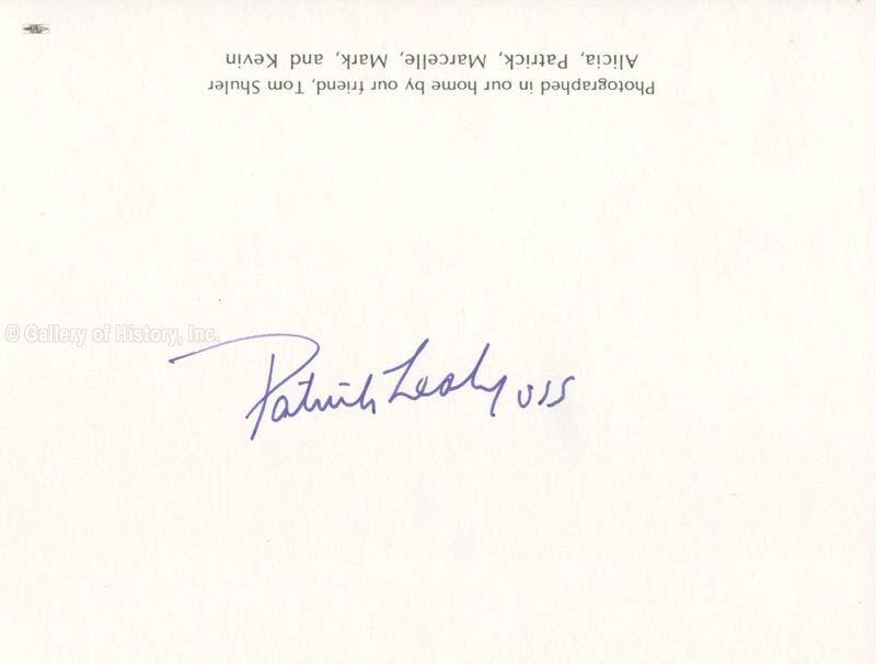 PATRICK J. LEAHY - PHOTOGRAPH SIGNED