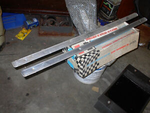 NICE USED PR OF 1957-8 OLDS 2DR HT ALUMINUM SILL PLATES $60.00