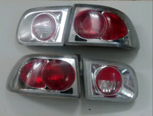 1992 - 1995 civic hatch back clear tail lights