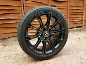 18 inch Black Bmw MV2 Alloy Wheels & Tyres e46 e60 1 series