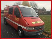 Mercedes-Benz Sprinter 410 D 2.9 TD + MWB + LOW ROOF + 6 SEATER + TWIN WHEELS