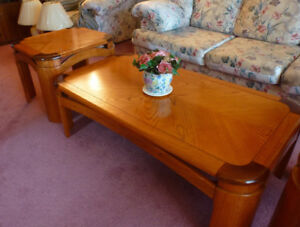 Beautiful Wood Coffee Tables -  3 Pc Set
