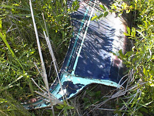 2 USED 1957 OLDS 4 DOOR REAR 1/4 PANELS NO RUST OR DENTS$125E