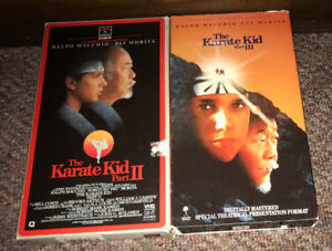 The Karate Kid Part II III VHS Lot 1980's cult Action Teen Movie