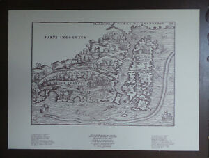 1556 Giacomo Gastaldi Map Reproduction, Limited edition of 500,