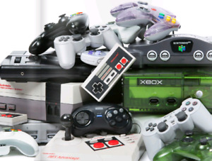 Various video games and consoles