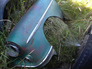 1954 OLDS LEFT FRONT FENDER + HOOD OFF 98 SEDAN  $125 EA