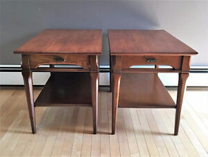 Set of Mid-Century Modern End Tables and Coffee Table (Ash)