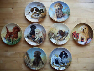 Field Puppies Complete set of 8 Plates