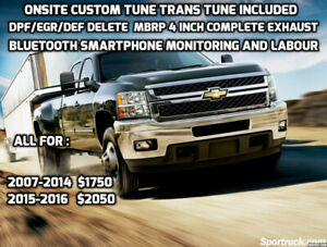 DURAMAX DPF/EGR/DEF DELETE PACKAGE CUSTOM TUNE + MBRP EXHAUST