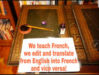 French Tutoring, Editing and Translation Services