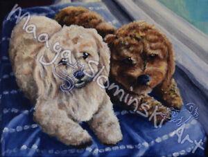 Portrait of your favourite pet or animal painted.