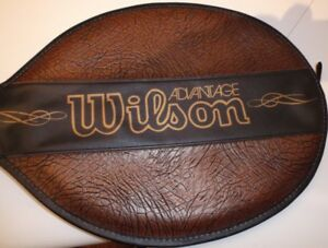 VINTAGE WOOD TENNIS RACKET IN GREAT CONDITION - WILSON ADVANTAGE