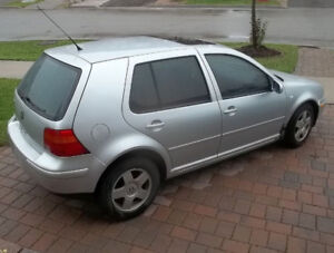 2002 VW Golf silver manual gas driveable