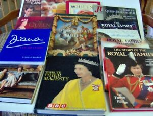 Old Queen Royal Family News clippings, books, VHS collection
