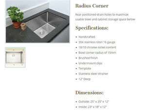 12 INCH DEEP STAINLESS STEEL LAUNDRY SINK ONLY $399