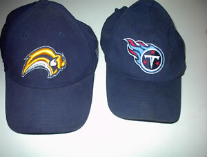2 NEW NFL FOOTBALL OFFICIAL CAPS BUFFALO AND TENNESSE $10 EA