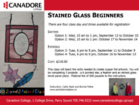 Stained Glass Beginners, Parry Sound, Canadore College