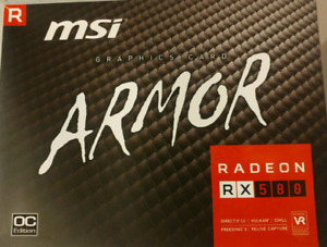 4 MSI Armor RX580 8Gb cards for sale