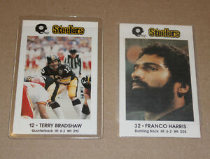 Vintage 1983 Pittsburgh Steeler Card issued by Kiwanis Club