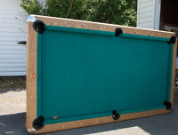 POOL TABLE with cue sticks and balls