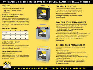 RV Traveler's Choice Deep Cycle Batteries - 3 Year warranty