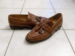 Johnston & Murphy Mens Dress Shoes LOAFERS brown size 9.5
