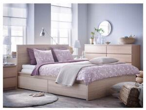 IKEA King size bed (mattress+frame)