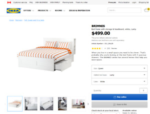 IKEA Bed frame with mattress- 90% new